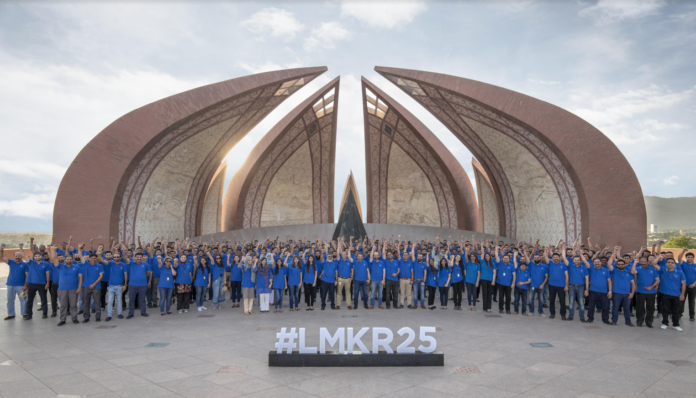 LMKR team celebrates its 25th Anniversary in Shakarparian, Islamabad, on June 2019.